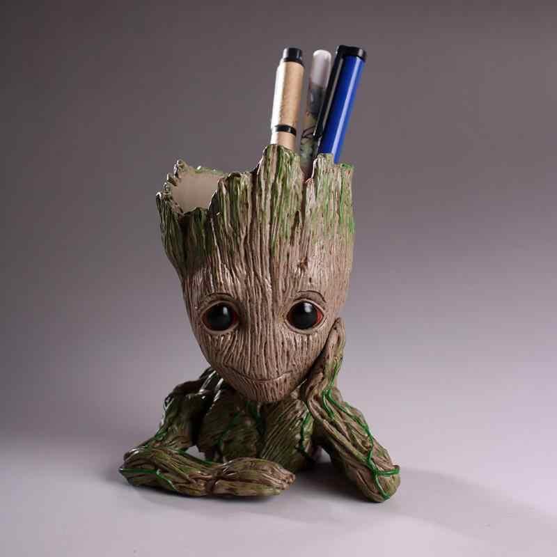 Groot bebek saksı aksiyon figürleri modeli oyuncak kalem Pot tutucu bitkiler Pot saksı noel dekorasyonu ev çocuklar için hediye