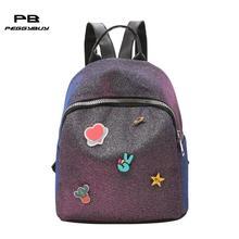 e044d98cf557b Moda mini kızlar için sırt çantaları için Shining Pullu sırt çantası okul PU  Deri okul çantaları genç kız kadın sırt çantası 201.
