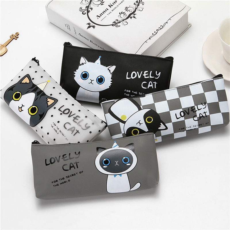 Canvas Pencil Case School Pencil Case For Girl Boy School Supplies High Capacity Bag For Pen Gift Pen Storage Box Stationery