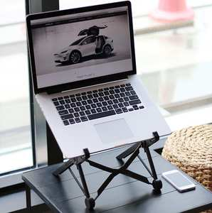 Laptop-Stand Aluminum-Alloy-Bracket Folding Portable Viewing-Angle/height-Adjustable
