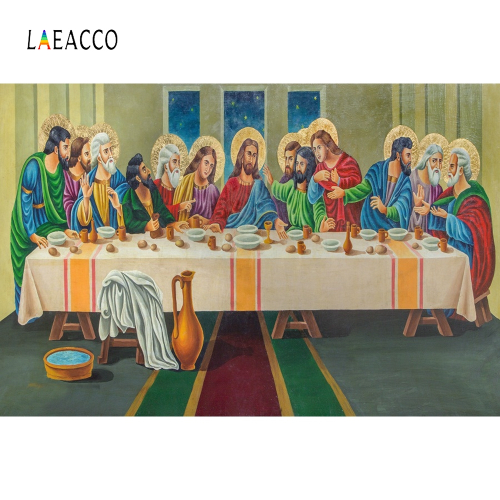 Laeacco Christ Jesus With Saints Christian Backdrop Photography Backgrounds Customized Photographic Backdrops For Photo Studio