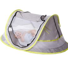ABGZ-Baby Travel Bed, Portable baby beach tent UPF 50+ Sun Shelter, Baby Tent Pop Up Mosquito Net and 2 Pegs, Ultraligh