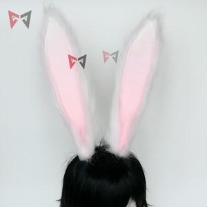 Image 2 - Neue Kaninchen Königreich Cosplay Carnaval Gothic Lolita Acessories Fuchs Ohr Haar Hoop Headwear Für Mädchen Frauen Kinder Hand Arbeit