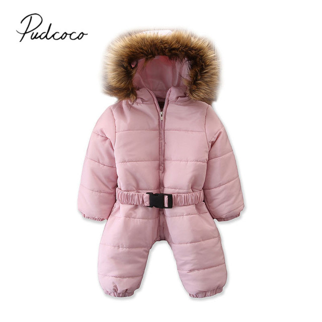 868e52504 2019 Brand New 0 3Y Newborn Infant Baby Girl Boy Down Coat Romper ...