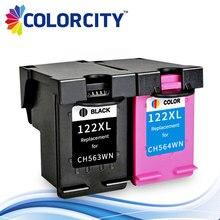 Colorcity cartucho de tinta recarregada 122xl 122 xl para hp deskjet 1000 1050 1510 2000 2050 2540 3000 3050 1050a 2050a 3050a impressora