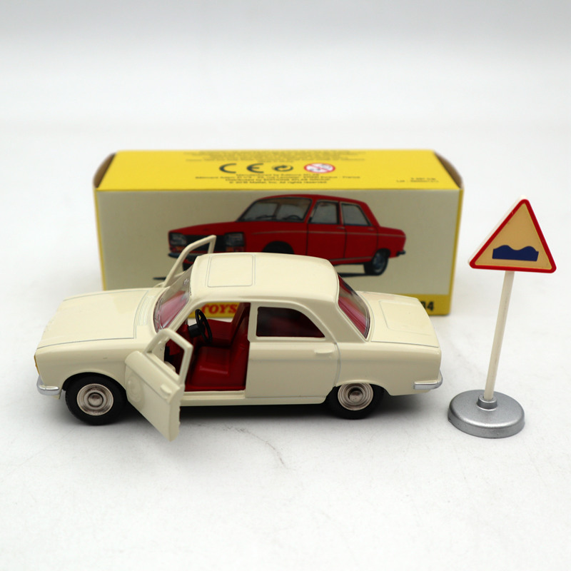 Atlas <font><b>1</b></font>:<font><b>43</b></font> Dinky Toys 1428 <font><b>PEUGEOT</b></font> 304 white Diecast <font><b>Models</b></font> Limited Edition Collection Toys <font><b>Car</b></font> image