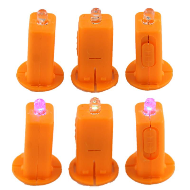 AJP 50pcs/lot Paper Lanterns LED Electronic Candles Colorful Flash Wicks Light Beads Children Handmade Portable Lanterns