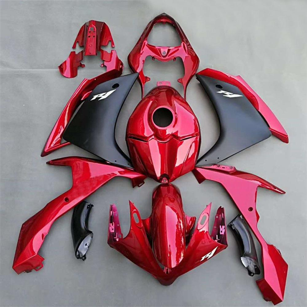 YZF-R1 07-08 Red Fairings Bodywork Cowling Cover Side Panel Mudguard Fender W/ Tank Fairing For Yamaha YZF 1000 R1 2007 2008
