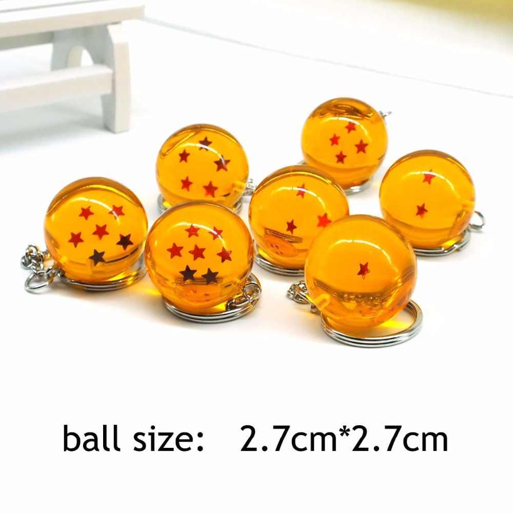 Bola de cristal Keychain Dos Desenhos Animados Anime Dragon Ball Z DBZ Dragonball Z Bola de Cristal Criança 7 Estrelas Chaveiros PVC Pingente de Chave titular