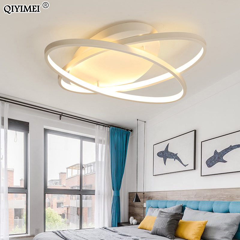 Image 2 - Oval Led Chandelier Lights Luminaire Plafonnier For Living Room Kitchen Bedroom Lamp Modern New Light Fixtures Lighting Dimmable-in Chandeliers from Lights & Lighting