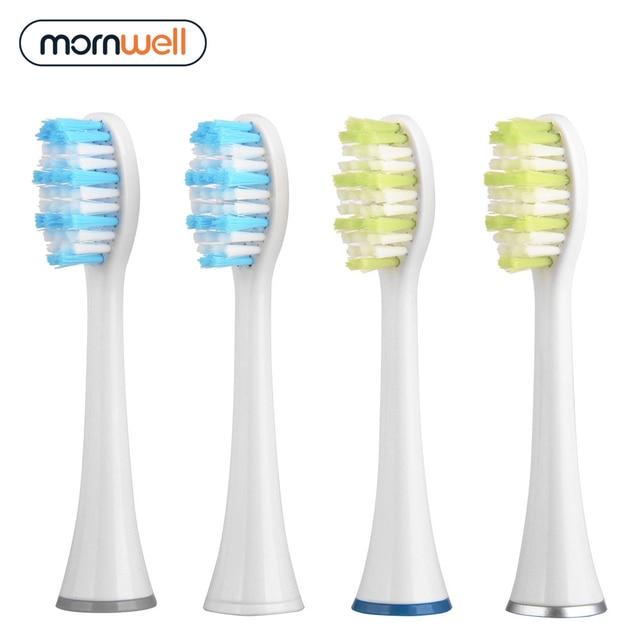 Сменные насадки для электрической зубной щетки Mornwell D01/D02, 4 шт. 1