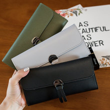 Envelope Wallet Long Style Three Folding Wallet Litchi Pattern Women Purses Coin Purse Card Holder Clutch Money Bag PU Leather недорого