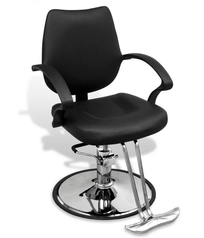 VidaXL Professional Barber Chair Imitation Leather Black 110121
