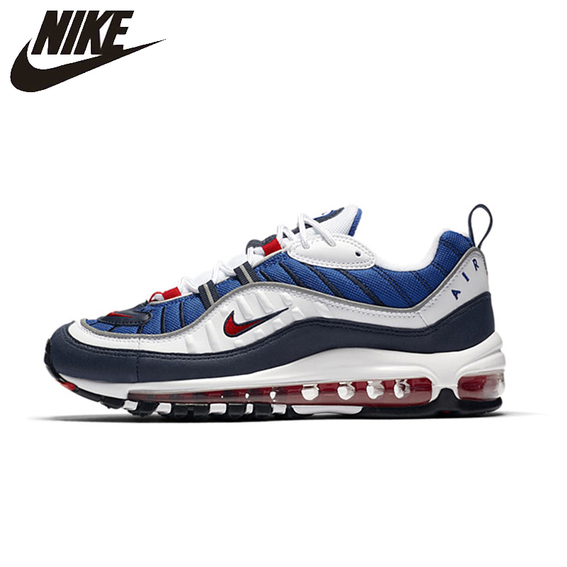 NIKE Air Max 98 Gundam Mens Breathable Running Shoes Lightweight Support Outdoor Sneakers #640744-100NIKE Air Max 98 Gundam Mens Breathable Running Shoes Lightweight Support Outdoor Sneakers #640744-100