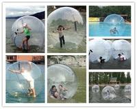 Free Shipping 2.5m 0.8mm PVC Inflatable Water Walking Ball Human Hamster Ball Zorb Ball Plastic Ball Water Dance Balloon Game