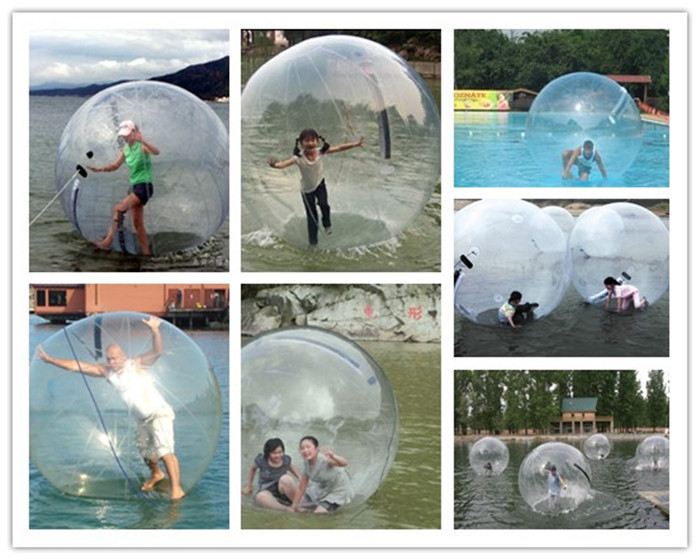 Livraison Gratuite 2.5 m 0.8mm PVC Gonflable Marche de L'eau Boule de Hamster Humain Balle Zorb Boule En Plastique Balle Danse De L'eau ballon Jeu