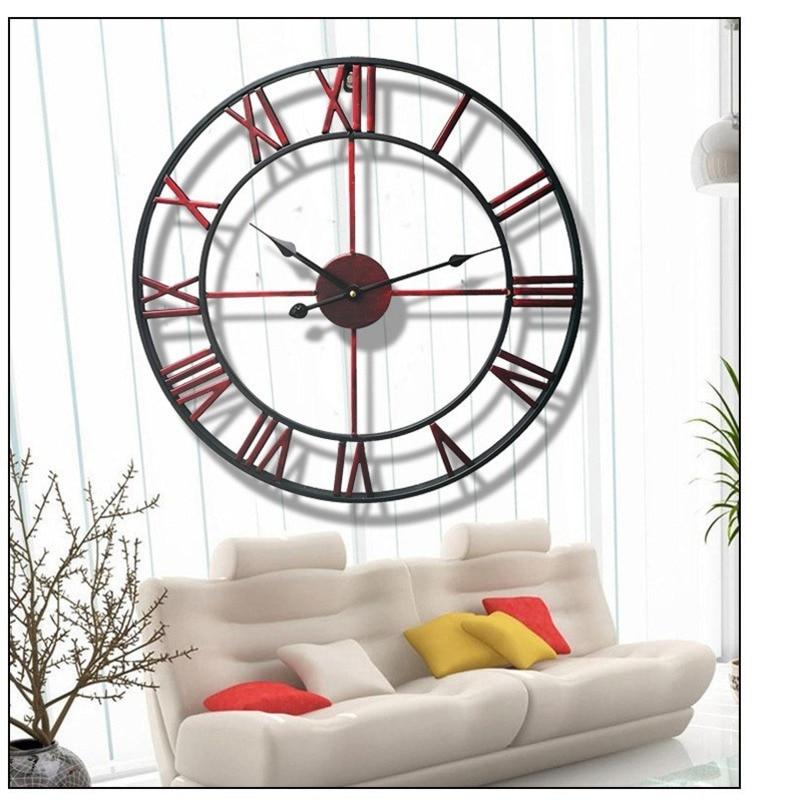 80CM North Europe Brief Creative Wall clock Roman numerals retro Iron Watches Antique Wedding decorations Wall clocks CW223