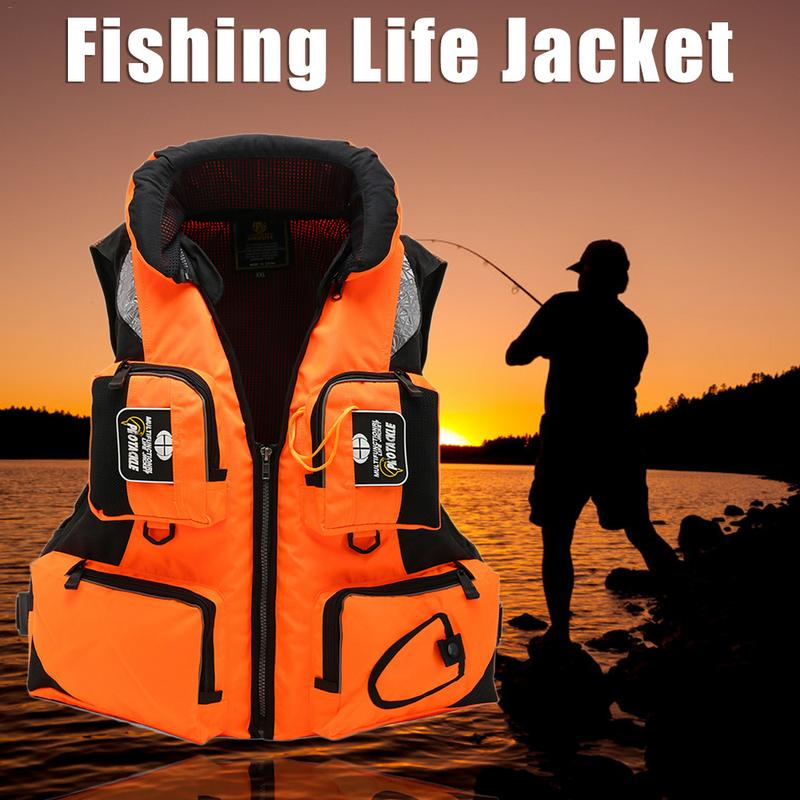 Life Vest Jacket Swimming Boating Ski Drifting Life Vest Snorkeling Suit Boating Swimming Survival Emergency Aid Safety Jacket