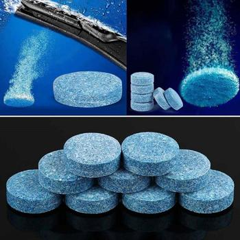 10pcs Condensed Effervescent Tablet Wiper Car Windshield Glass Washer Solid Wiper Concentrated Super Conventional Cleaner Tablet