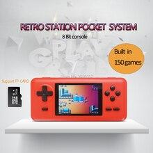 WOLSEN 8 Bit Retro Station Pocket เกมในตัว 586 เกม 3.0 นิ้วคอนโซลวิดีโอเกมสนับสนุน Micro TF การ์ดโหลดเกม