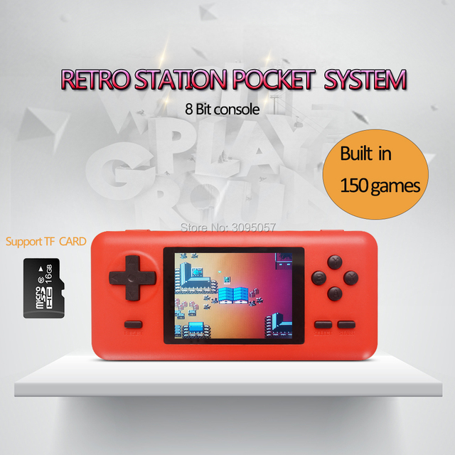 WOLSEN 8 Bit Retro Station Pocket Handheld Game Built in 586 games 3.0 Inch Video Game Console Support Micro TF card Load game
