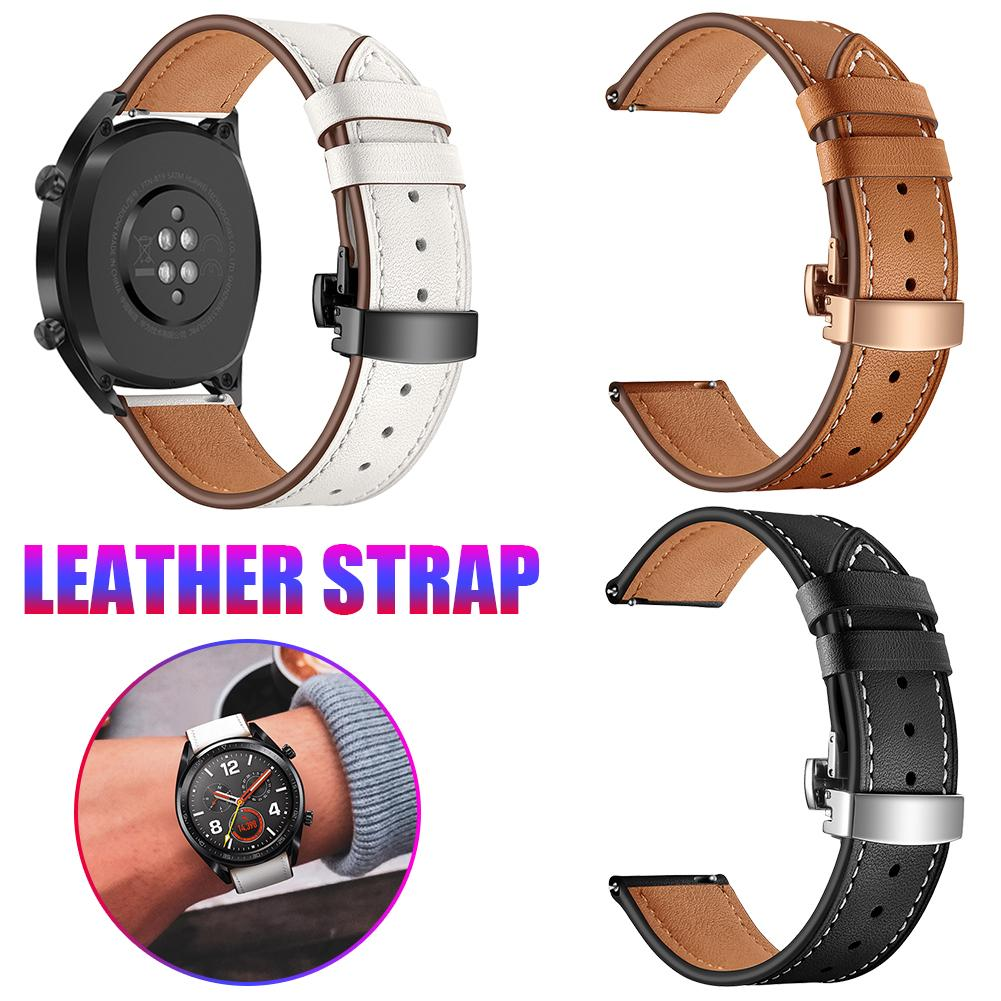 Smart Sports Watch With Strap Leather Watch Strap Watch GT Butterfly Buckle Leather Watch Band 22MM Classic And Stylish-in Smart Accessories from Consumer Electronics
