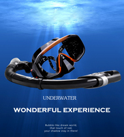 Professional Silicone Scuba Dive Mask Snorkel Set Use for Swimming Diving Snorkelling Free Shipping YM138+YS03