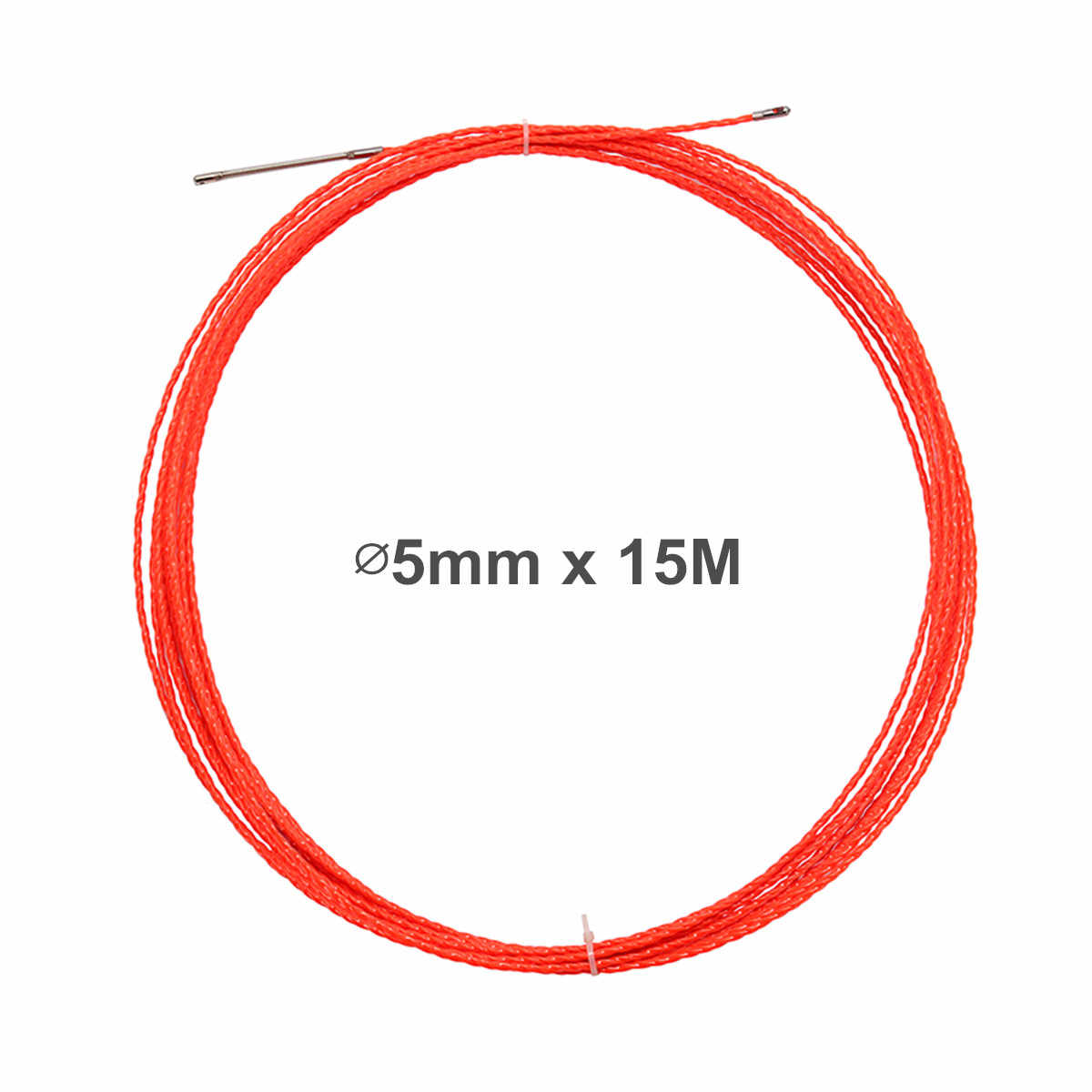 5mm 15M Professional Cable Push Puller Rodder Reel Conduit Snake Fish Tape Wire Cabling Tools Electrical Wiring Accessories Kit