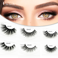 Colash New Arrival High Quanlity 100% Handmade 1 Pair 15MM 3D Real Mink Lashes Multilayer Soft Thick False Eyelashes