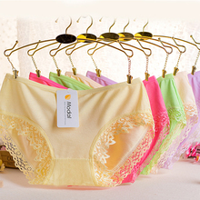 1PC High Quality Underwear Elasticity Sexy Women Hot Sale Popular  Panties Lace Cotton Briefs Seamless