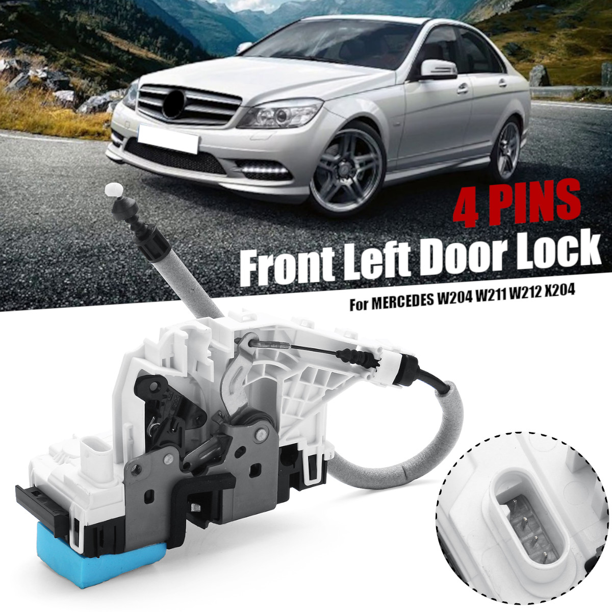 A2047201535 2047201535 CAR FRONT LEFT DOOR LOCK For MERCEDES W204 W211 W212 X204 2007 2014-in Locks & Hardware from Automobiles & Motorcycles    1