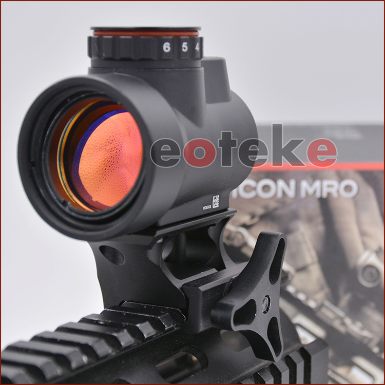 Red Green Dot Scope Sight Holographic Trijicon Style MRO 1MOA Dot Airsoft Black Low light Mount