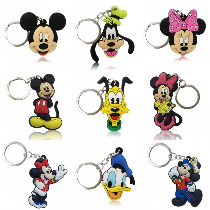 1pcs Mickey Kawaii Pendant Keychain Organize Minnie Key Holder Desk Accessories&Organizer Bag Key Chain Decor Kids Gift