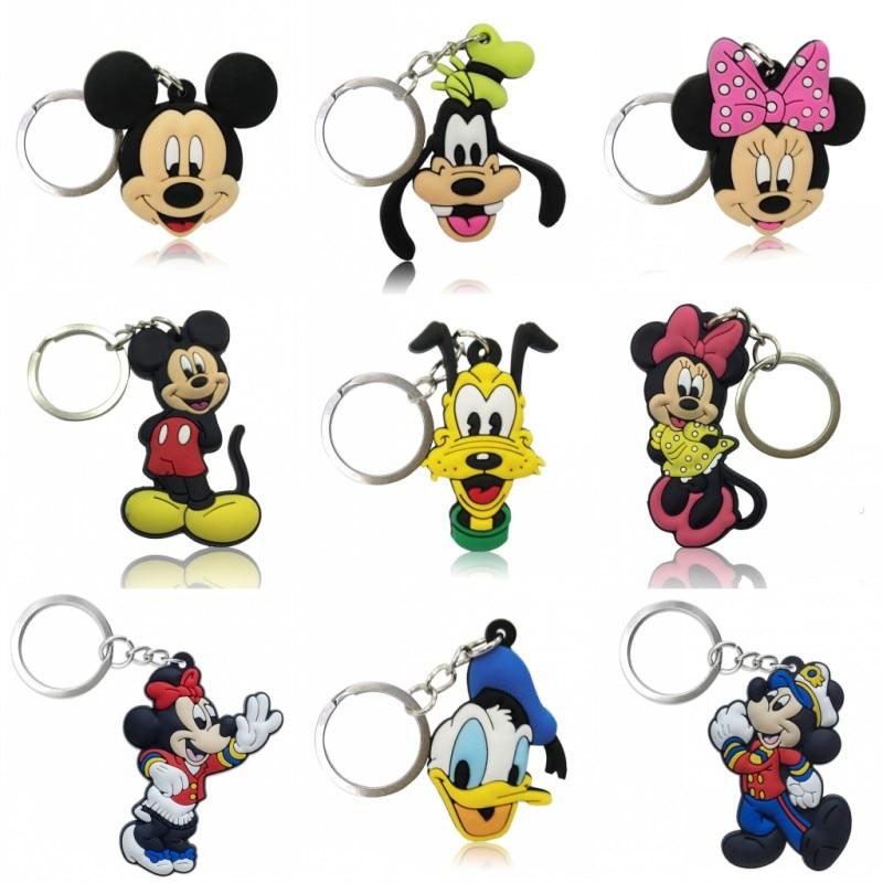 1pcs Mickey Kawaii Pendant Keychain Organize Minnie Key Holder Desk Accessories&Organizer Bag Key Chain Decor Kids Gift
