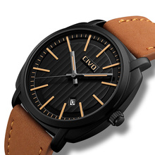 CIVO Simple Design Genuine Leather Sport Wrist Watch Men Casual Military For Men's Clock Waterproof Quartz Watches Date Calendar цена