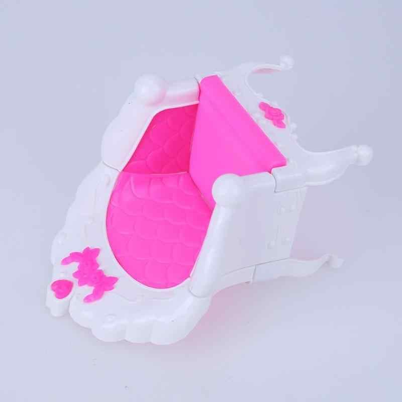 Brinquedo de Menina Doce Sonho princesa Sofá Poltrona Móveis Para Acessórios Da Boneca Brinquedos Para As Crianças Do Bebê Presente de Natal Da Boneca
