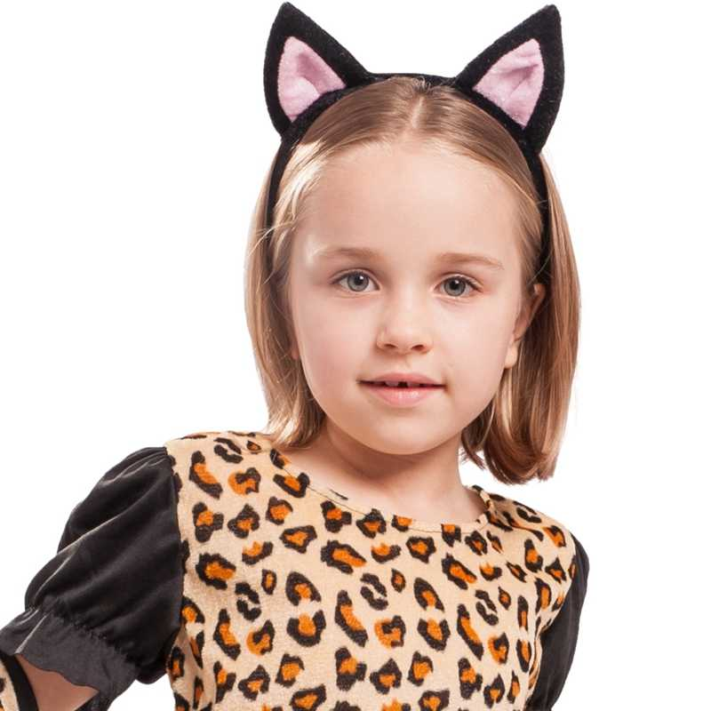 868342fad274 ... Girls Little Leopard Cat Catsuit Dress Halloween Child Costume ...