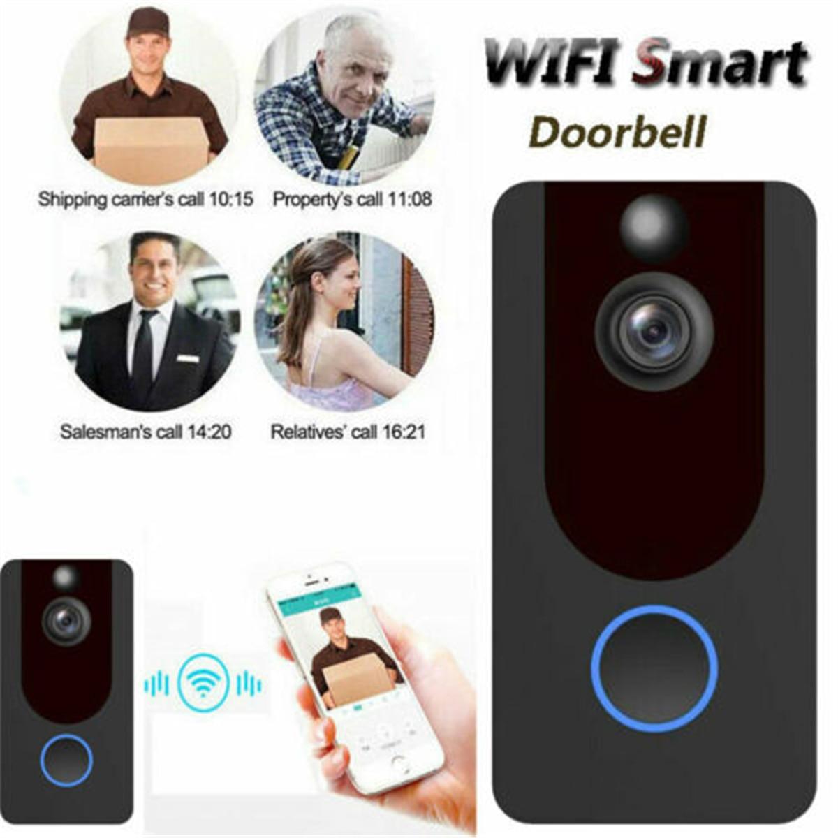 WiFi Wireless Video Doorbell Two-Way Talk Smart Door Bell Security Camera 1080PWiFi Wireless Video Doorbell Two-Way Talk Smart Door Bell Security Camera 1080P