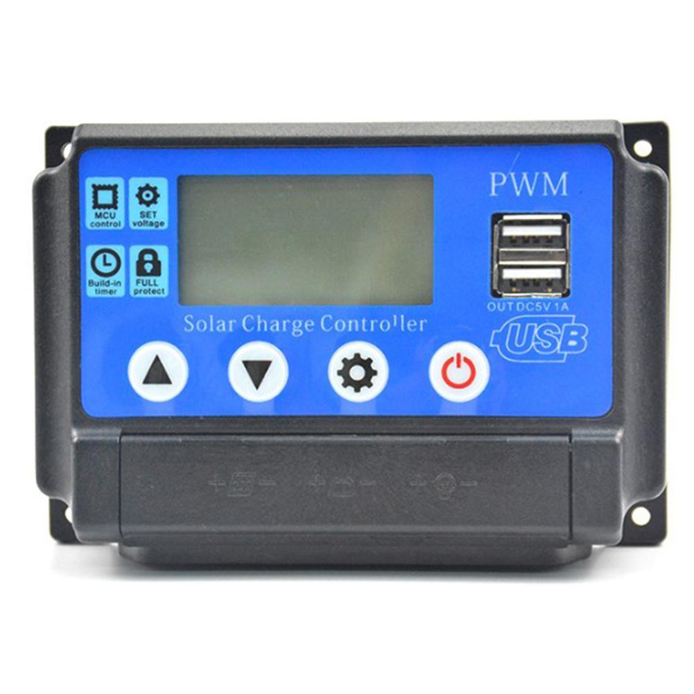 60A/50A/40A/30A/20A/10A 2 V 24 V MPPT Controlador de Carga Solar Auto regulador PWM Com Display LCD Do Painel de Células Solares PV Casa