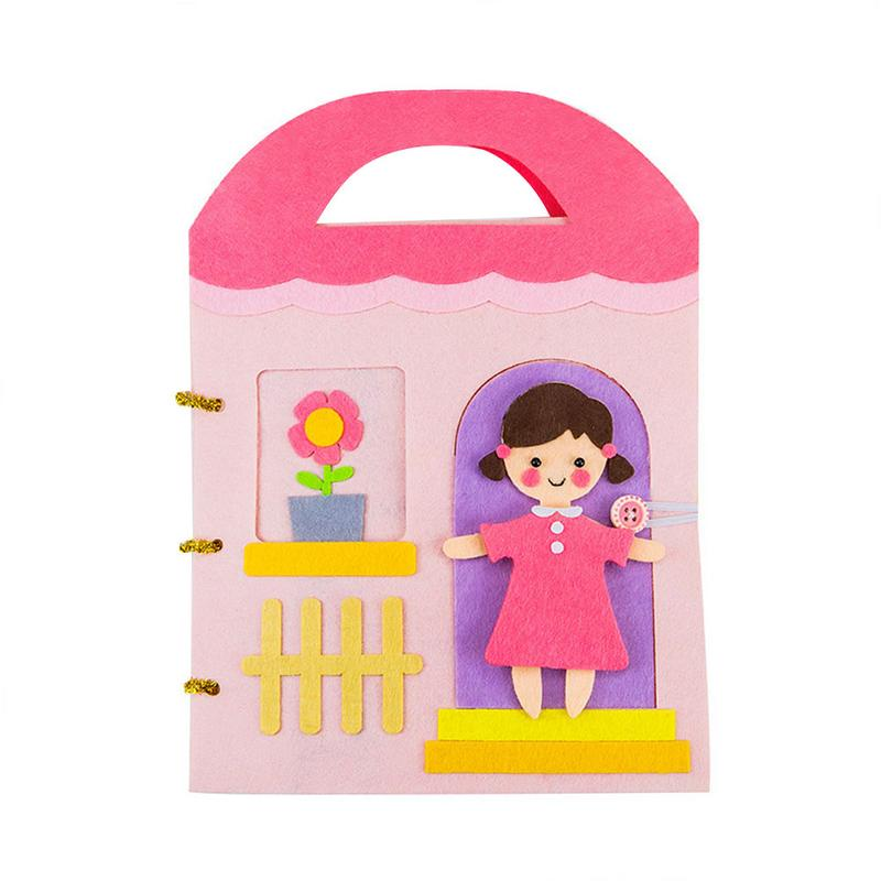 Soft DIY Cloth Books Infant Early Cognitive Development Montessori Quiet Panting Book Puzzle Toy Children Education Reading Book