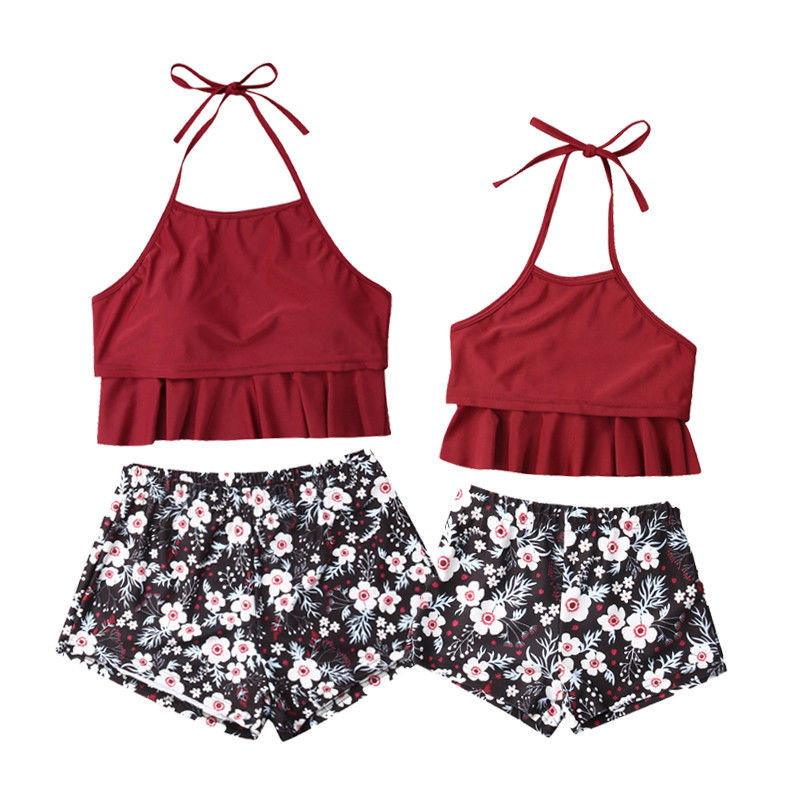 2019 Mother and daughter Bikini Clothes Family Matching Swimwear Mother