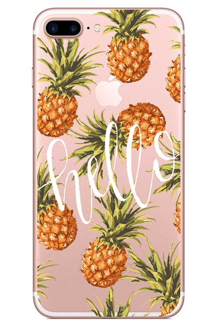 Silicone Summer Fruit Patterned Phone Case