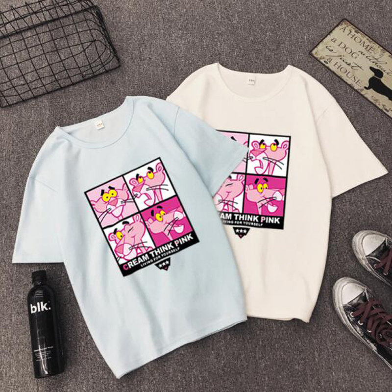 High Quality T shirt Woman Spring Summer Fashion Print Short Sleeve Round Neck Women Tops Casual Loose T shirt Femme in T Shirts from Women 39 s Clothing