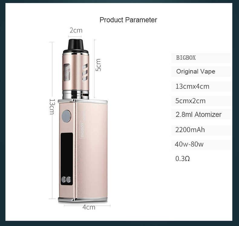 オリジナル 80 ワット vaper 電子タバコキット LED 2200 mah バッテリー液体 e タバコ蒸気を吸うペン気化器ボックス mod 水ギセルキット