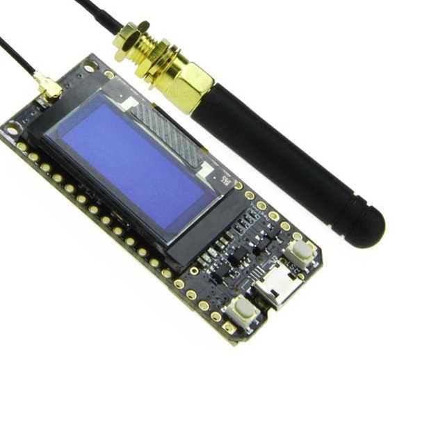 Module de carte de développement de ESP-32 Bluetooth Wifi Lora32 Lora 868Mhz ESP32 Lora Oled 0.96 pouces affichage bleu avec antenne