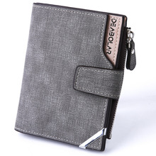 Vintage Men's Wallet Made Of PU Long Card Purse Leisure Anti Rfid Cardholder Passport Cover Pickpocket Vertical Type Zipper Hasp