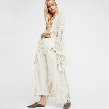 MUXU bohemian white sexy transparent long dress fashion sukienka kleider vestido robe femme frocks loose streetwear clothes wrap