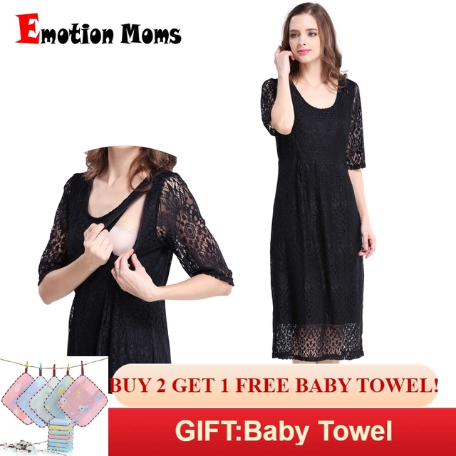 5e83649ad0190 Emotion Moms New Lace maternity clothes Party Maternity Dresses Nursing  Breastfeeding Dress for Pregnant Women Pregnancy