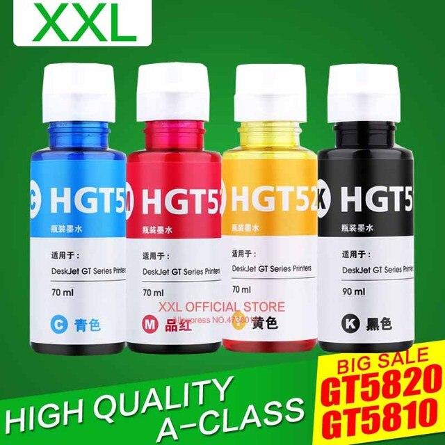 Перезаправляемые чернила комплект для hp GT51 GT52 GT, 51, 52, модель для GT5810 GT5820 5810 5820 с чернилами hp Deskjet чернила для принтера 90 мл 70 мл