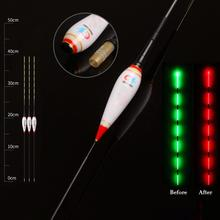 Smart Fishing Led Light Float Night Luminous Floats Automatically Remind With Button Battery